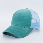 5 Panels Corduroy Mesh Back Trucker Baseball Cap