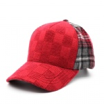 5 Panels Jacquard Plaid Baseball Cap