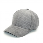 6 Panels Cotton Corduroy Baseball Cap
